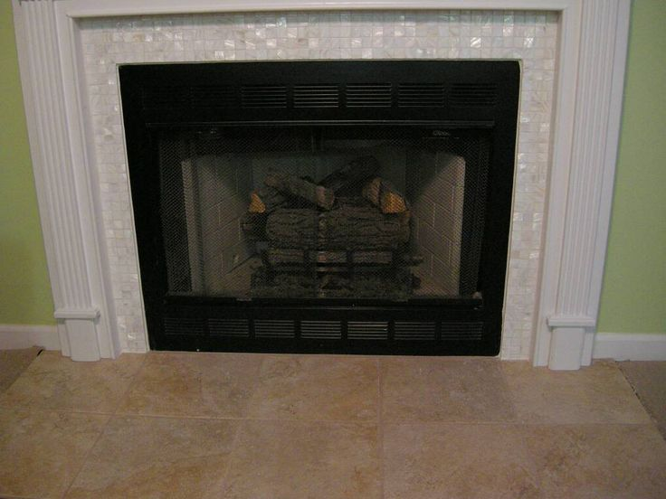 Tile Fireplace Photos X1 Quot Mother Of Pearl Tile Surround