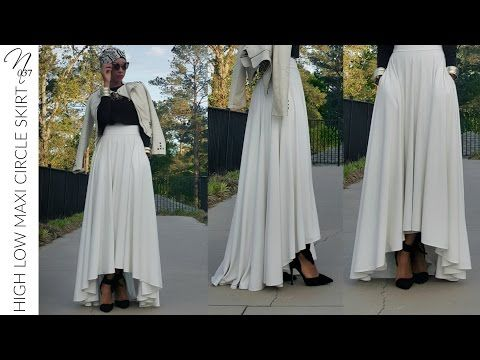 Nadira037 | DIY | Tulle Maxi Skirt | With a Hidden Zipper - YouTube