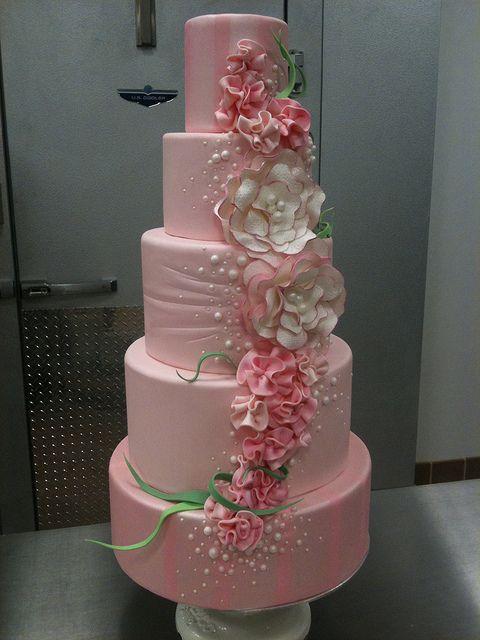 Indian Weddings Inspirations. Pink Wedding Cake. Repinned by #indianweddingsmag indianweddingsmag.com #rustic