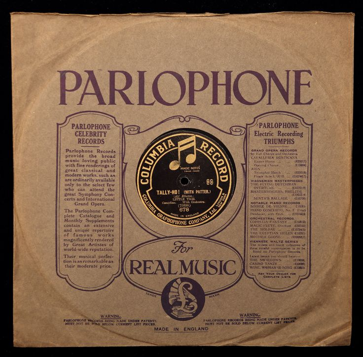 'Tally-Ho!' Comedian with orchestra. 4:22  Columbia 678 Matrix 75898 Twelve inch disk.  Song & Patter. Recorded May 1917. Written by Alf Ellerton.  I can't find any release information on this at the moment.