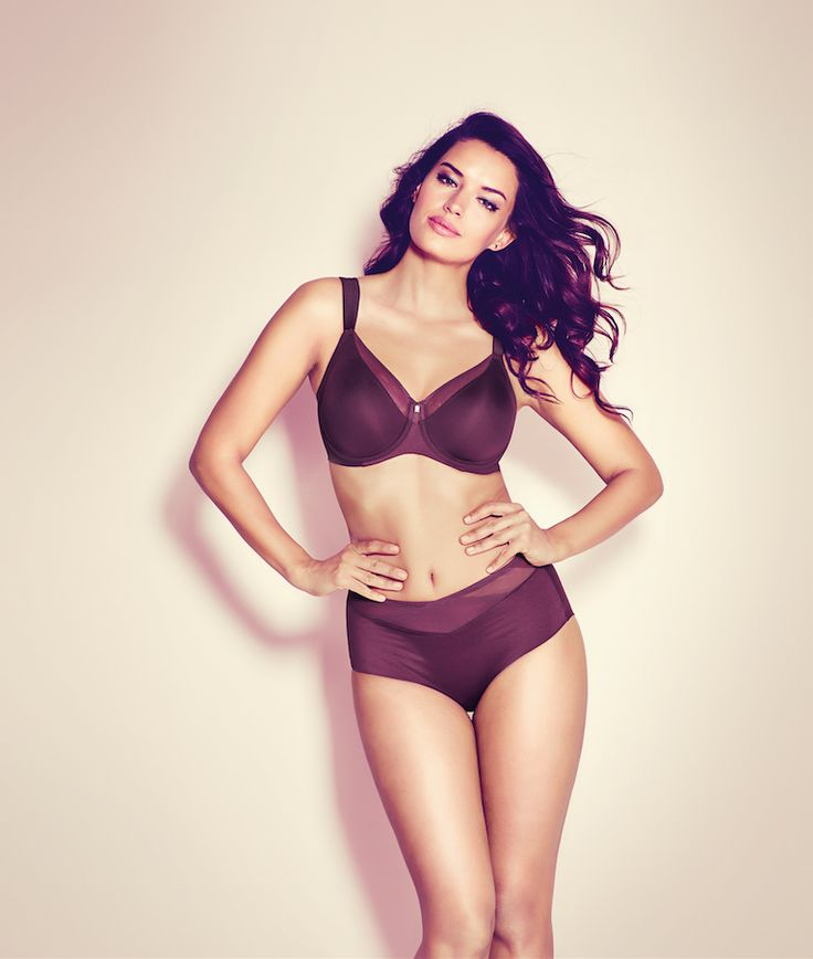 Our True Shape Sensation Minimizer bra comes in eye-catching Aubergine