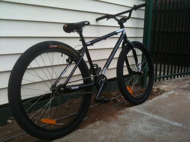 """Charge Stove MTB /  26"""" BMX Cruiser. Cro-mo everything, front brake removed, stem flipped, bars narrowed, Replaced original grips with Primo Josh Stricker grips."""
