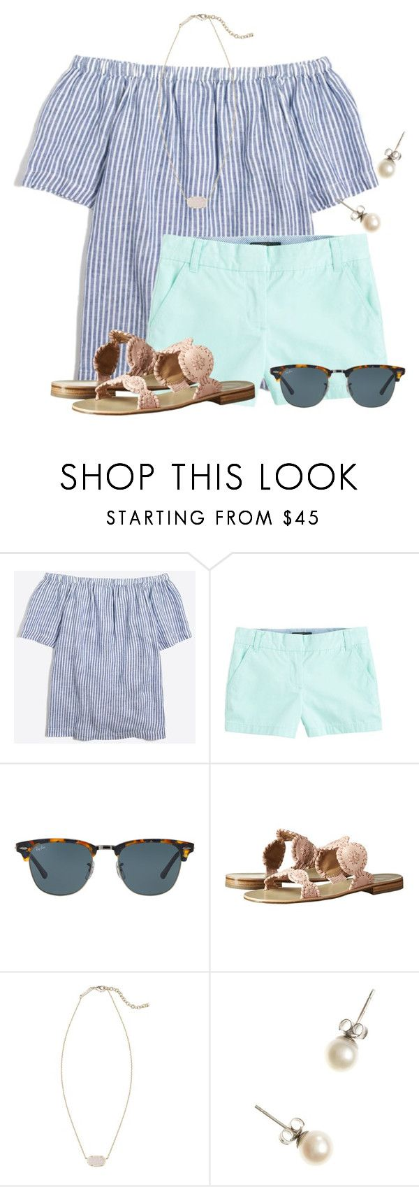 """TODAY IS MY 16th BIRTHDAY!❤"" by flroasburn ❤ liked on Polyvore featuring J.Crew, Ray-Ban, Jack Rogers and Kendra Scott"
