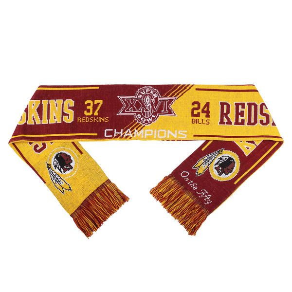 Washington Redskins Super Bowl XXVI On the Fifty Acrylic Scarf - $19.99
