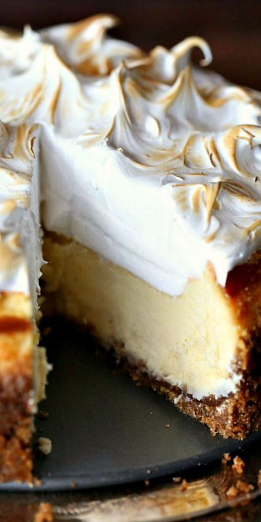 Lemon Meringue CheesecakeRecipe ~ Says:  the dreamiest thing I've made in a long while. It's one of those recipes that makes you do a little dance after eating the first bite…so so good!
