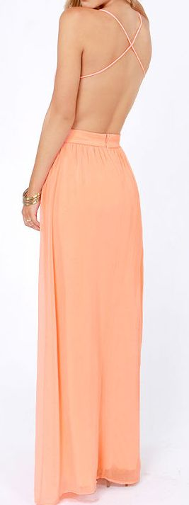 Peachy Strappy Back Maxi | plus + ShePin site, cheap cute clothes