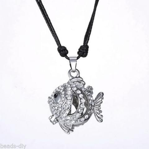 BD Hollow Fish Musical Pregnancy Antenatal Training Adjustable Pendant Necklace