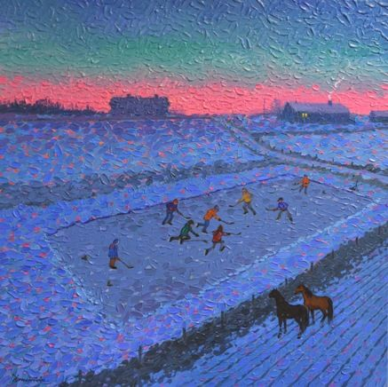 http://www.gibsonfineart.ca William (Bill)  Brownridge The Dug-Out From The Bleachers