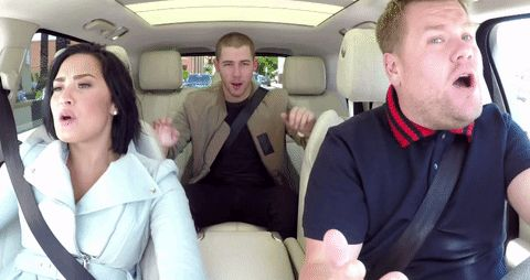 demi lovato nick jonas james corden carpool karaoke late late show latelateshow trending #GIF on #Giphy via #IFTTT http://gph.is/1sq1ANZ