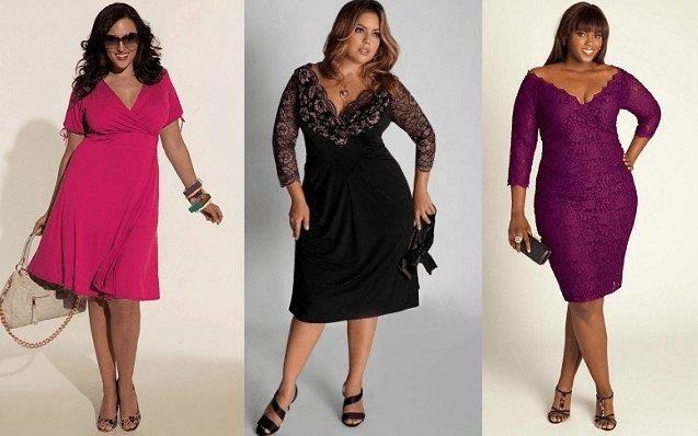 Как подобрать платье для полноватой фигуры
