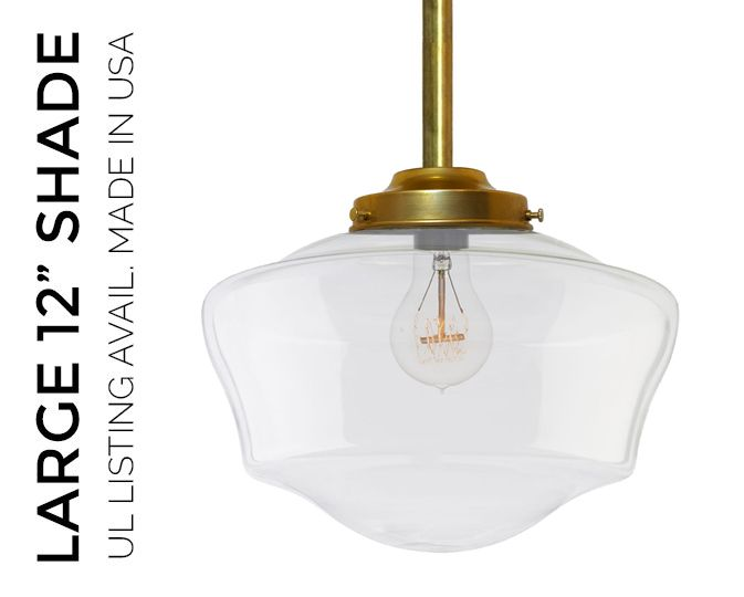 Handblown In The USA This Schoolhouse Shade Is A Vintage Replica With Modern Twist From Home Kitchen To Restaurant Dining Room Fixture Stately