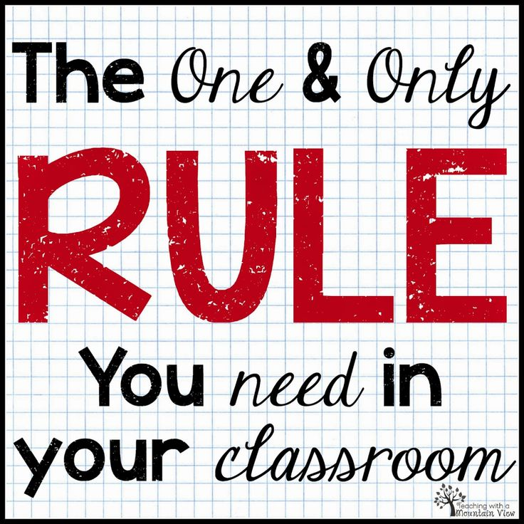 The One Rule Classroom Just a little RESPECT! Classroom