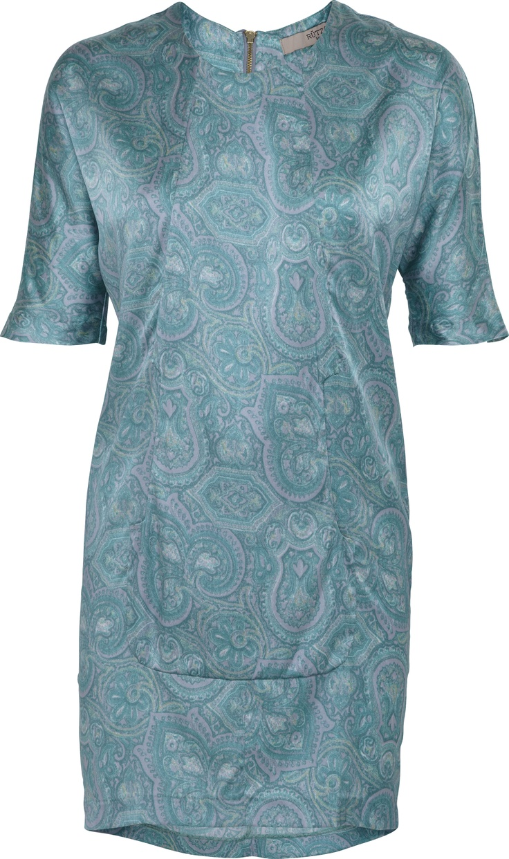 Pewter Blue print dress with one pocket | SS13