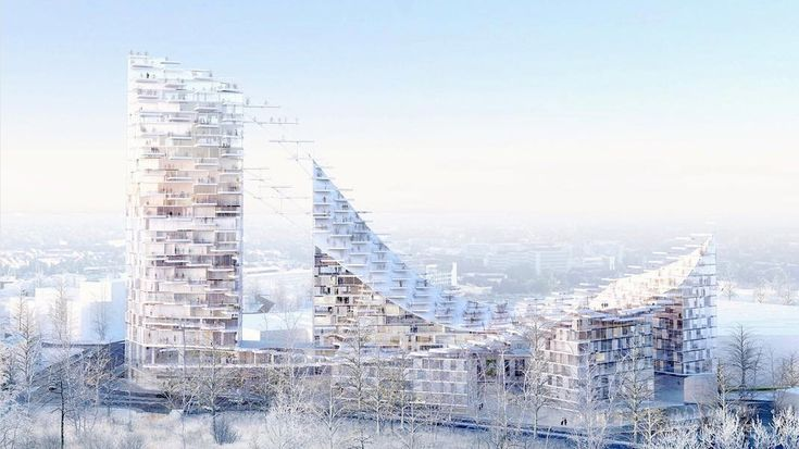 Japanese architect Sou Fujimoto and Belgian studio AWAA teamed up to design this mixed-use tower complex in Brussels, which will be covered in balconies.