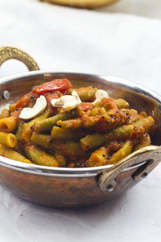 [indisch] Farasbean Bhaji - Grüne Bohnen in Tomatencurry