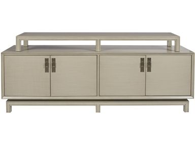 Width: Depth: Height: Vanguard Living Room Elliott Console   Vanguard  Furniture   Conover, NC French Grey W/ Antique Brass Hardware