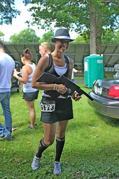One of our participants in costume before the Public Enemy 5K Run & Walk at the Lake County Fairgrounds in Crown Point, IN.