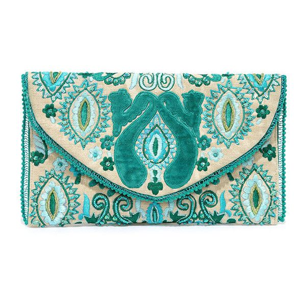 All I Ever Wanted Teal Beaded Clutch ($42) ❤ liked on Polyvore featuring bags, handbags, clutches, beaded clutches, beaded purse, pocket purse, embellished handbags and turquoise purse