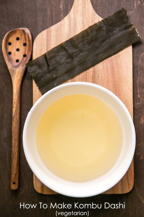 I had no idea that vegetarian dashi broth (Kombu dashi) was so easy! Kombu Dashi | JustOneCookbook.com