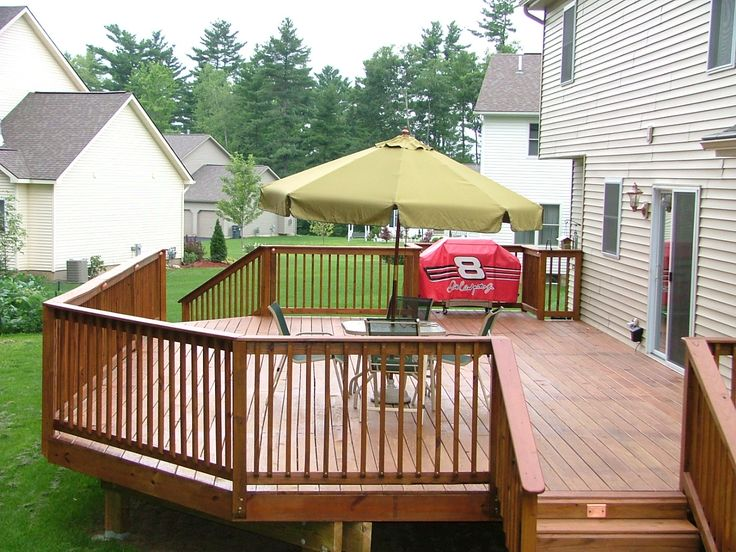 42 best images about beautiful deck designs on pinterest for Simple outdoor decks