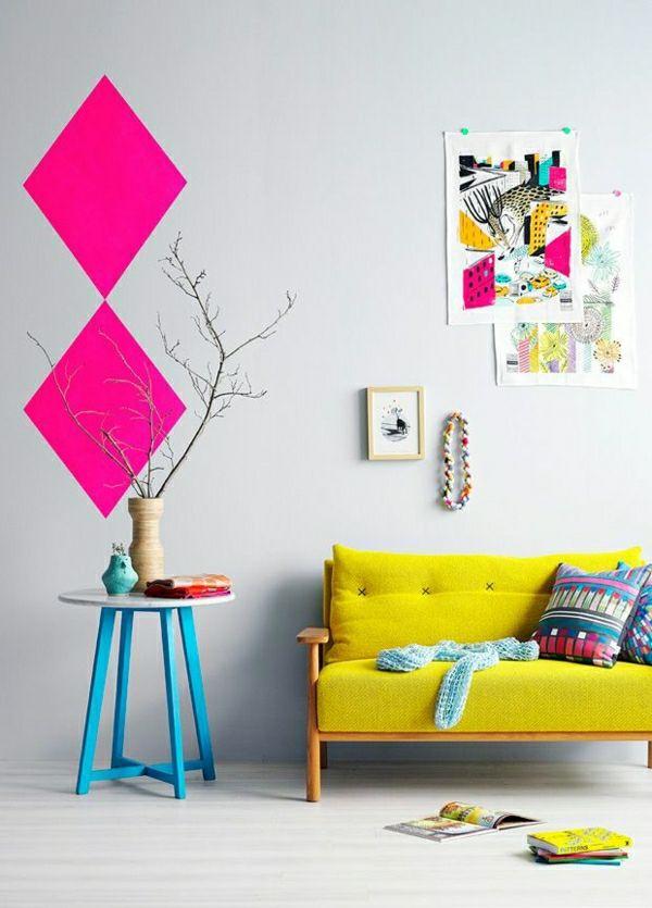 Die besten 25+ Farbprobenkunst Ideen auf Pinterest - wohnzimmer ideen pink