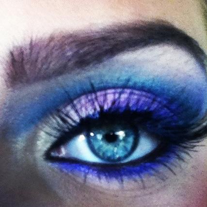 80's photoshoot makeup