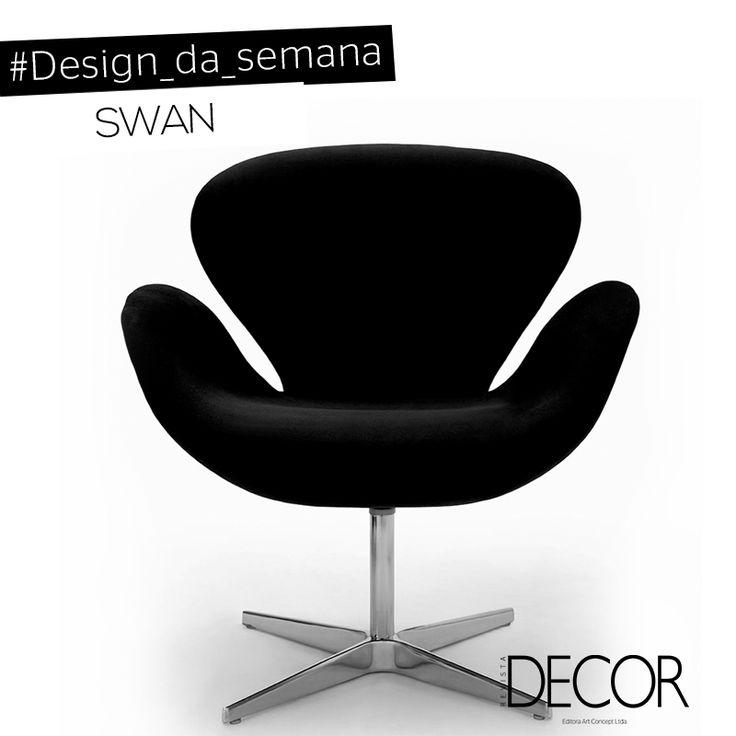 Assinada Pelo Arquiteto Dinamarquês Arne Jacobsen, A Poltrona Swan, Com  Design Do Ano De