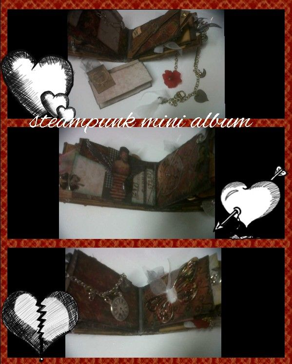 Steampunk mini album made from toiletrolls inspired by Einat Kessler. This is photo 2