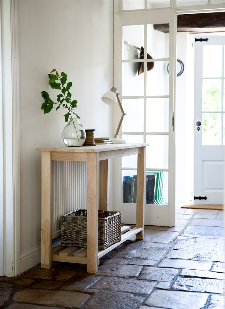 Raw Oak Console/Side Table at Garden Trading