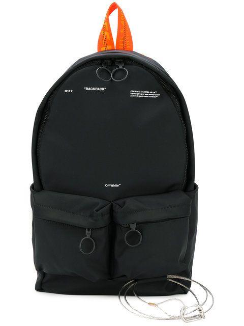 Off-White рюкзак с передними отделениями на молнии