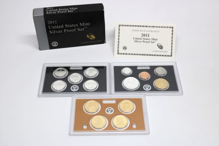 United States Mint Silver Proof Set 2011 Zustand PP s. Bilder