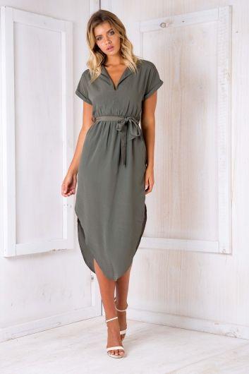 Pippa Dress - Khaki $59.95