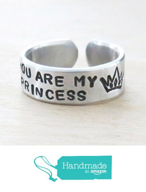 You are my Princess ring - Stamped silver aluminum crown tiara ring - Girlfriend boyfriend couple gift for daughter wife grand-daughter - Valentines day gift from Belvidesigns http://www.amazon.com/dp/B01A7WA398/ref=hnd_sw_r_pi_dp_MzhJwb0PA0476 #handmadeatamazon
