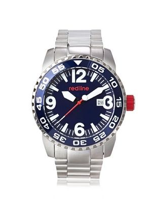83% OFF red line Men's 60015 Ignition Silver/Blue Stainless Steel Watch