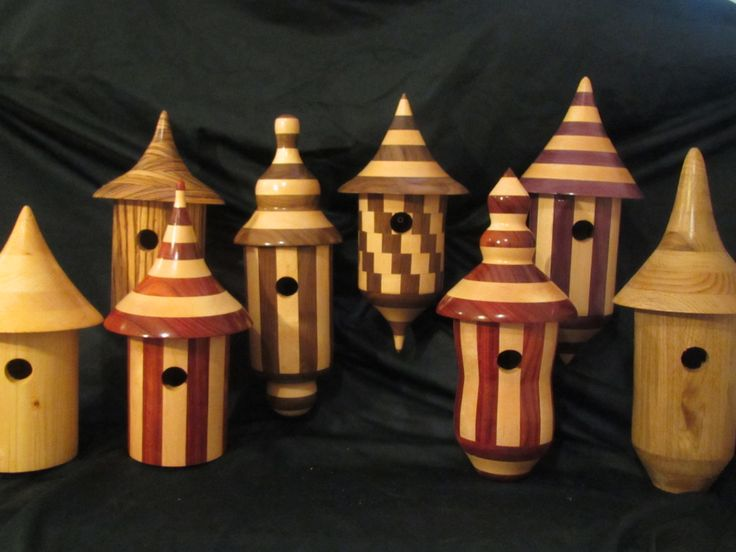 17 best turned birdhouses images on pinterest bird for Different types of birdhouses