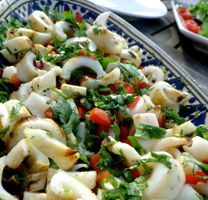 Grilled Squid Salad / Salada de Lulas