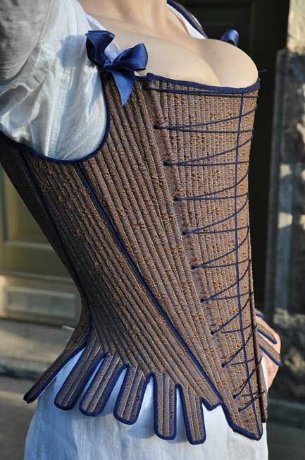 1740s stays. Corsets. Before the Automobile: Corsets and stays