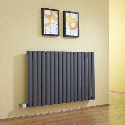Milano Aruba Electric - Anthracite Horizontal Designer Radiator 635mm x 1000mm - http://www.bestheating.com/milano-aruba-anthracite-horizontal-electric-designer-radiator-635mm-x-1000mm.html