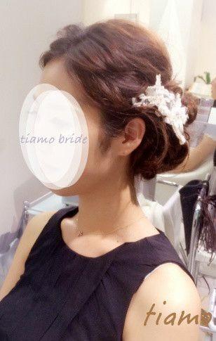 ドレスから和装へチェンジ!ルーズな4スタイル♡リハ篇 の画像 大人可愛いブライダルヘアメイク 『tiamo』 の結婚カタログ