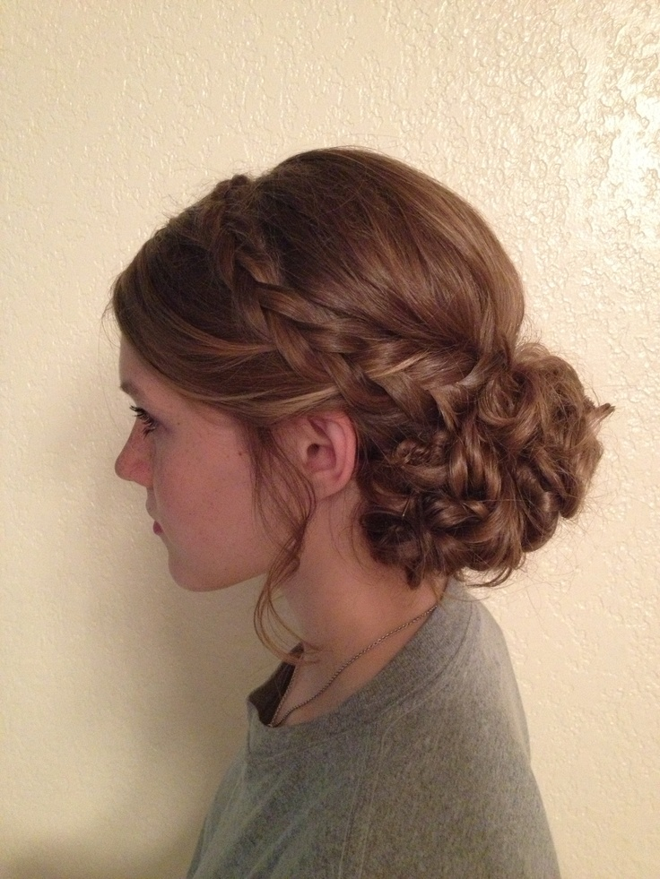 Whimsical Updo Braids Curly My Style Pinterest