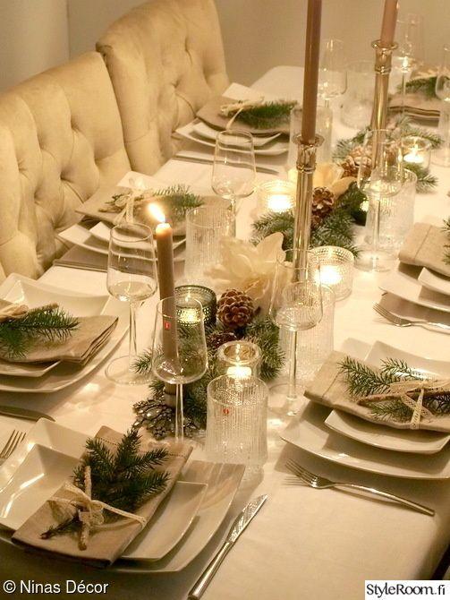 joulu,uusivuosi,uusi vuosi,kattaus,kutsuva kattaus Table setting #tablesetting #Christmas #NewYearsEve