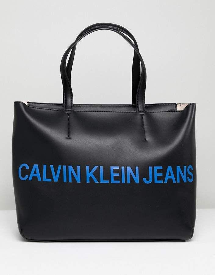 f6906e1181c5 Calvin Klein Jeans Tote Bag with Logo