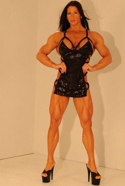 Muscular Womens Dressed: Elena Seiple.