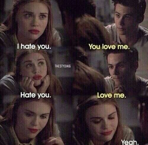 Stiles and Lydia. Teen Wolf.