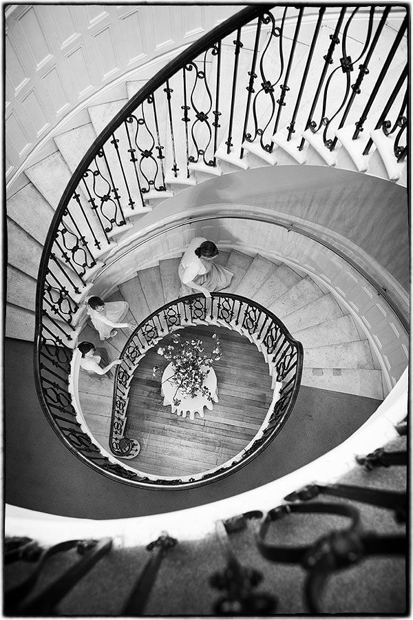 Eastington Park wedding - the staircase