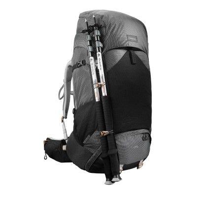 e8c8127453 Sac à dos trekking montagne TREK500 70L +10L Femme Gris carbone ...