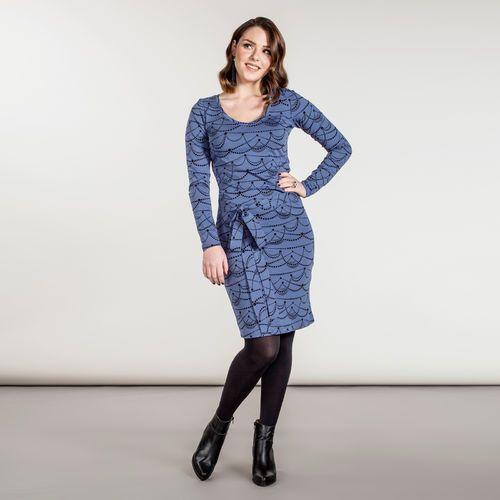 JUHLA mekko vyöllä, sininen - musta | Ihastu naisten talvimallistoon 2016 ja tilaa edustajaltasi nosh.fi/lookbookWOMEN (This collection is available only in Finland.)
