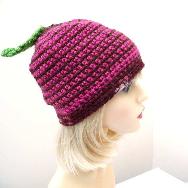 Adult Crochet Hat with Berry Detail £7.00