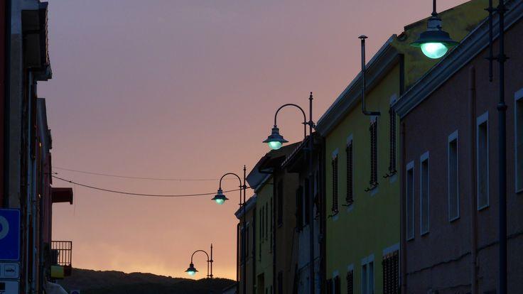 sunset in via Asinara