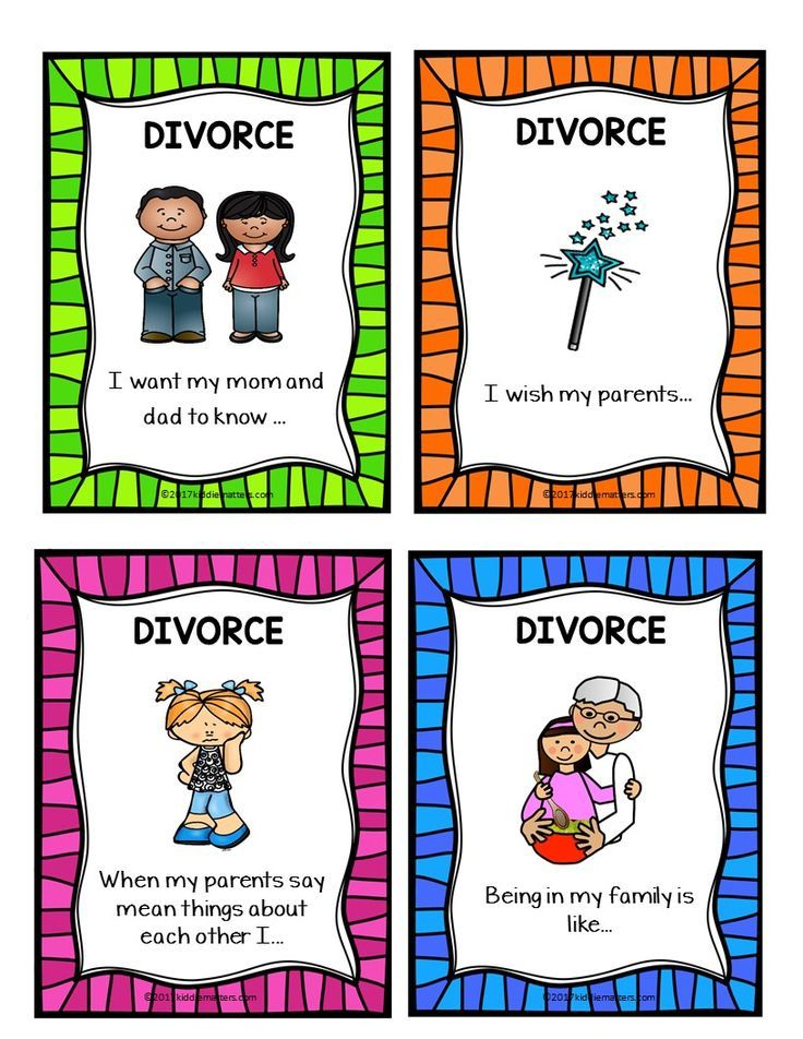 Talking with kids about divorce can be hard.  Help them express their thoughts and emotions with these divorce sentence completion counseling activities.  Great for use by parents and counselors.
